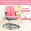 Kids Adjustable Height Depth Study Desk Chair with Sit-Brake Casters