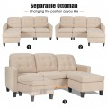 Convertible L-shaped Sectional Sofa Couch with Massage Cushion