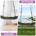 Saucer Tree Swing Surf Kids Outdoor Adjustable Oval Platform Set with Handle