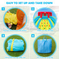 Inflatable Water Park Bounce House with Double Slide and Climbing Wall