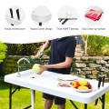 Folding Cleaning Sink Faucet Cutting Camping Table with Sprayer