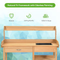 Outdoor Lawn Patio Potting Bench Storage Table Shelf