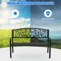 Garden Bench with Elegant Bronze Finish and Durable Metal Frame