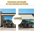 Outdoor Manual Retractable Awning Cover Shelter Patio Sun Shade