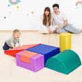6 Piece Climb Crawl Play Set Indoor Kids  Toddler