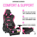 Massage Gaming Chair with Footrest