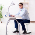 Adjustable Active Learning Stool Sitting Home Office Wobble Chair with Cushion Seat