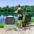 Foldable 360-degree Swivel Hunting Chair with Iron Frame for All-weather Outdoor