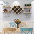 Set of 5 Wall Mount Wine Rack Set w/ Storage Shelves