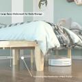 "14"" Full Size Wood Platform Bed Frame with Wood Slat Support"