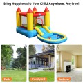 Inflatable Kids Slide Bounce House with 580w Blower