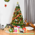 Artificial PVC Hinged Xmas Pine Christmas Green Tree with Solid Metal Stand for festival Decoration