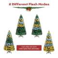 5' / 6' Pre-Lit Fiber Double-Color Lights Optic Christmas Tree