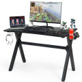 Gaming Desk with Mousepad and Cup Headphone Holder