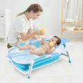Baby Folding Collapsible Portable Bathtub w/ Block
