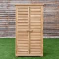 63 Inch Tall Wooden Garden Storage Shed in Shutter Design