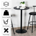 """24"""" Bistro Pub Table Round Bar Height Cocktail Table with Metal Base and MDF Top"""