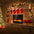 40'' Electric Fireplace Recessed Wall Mounted with Multicolor Flame