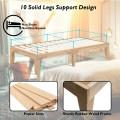 "Twin Size 14"" Wooden Slats Bed Mattress Frame"