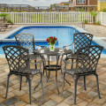 Outdoor Aluminum Dining Set of 2 Patio Bistro Chairs