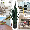 """35.5""""  Indoor-Outdoor Artificial Fake Snake Plant"""