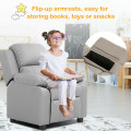 Kids Deluxe Headrest  Recliner Sofa Chair with Storage Arms