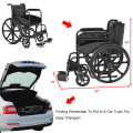 Lightweight Foldable Medical Wheelchair with Footrest