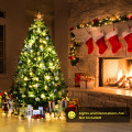 6 Ft Hinged Artificial Christmas Tree with Solid Metal Stand