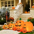 7.5 Feet Halloween Inflatable 7 Pumpkins Patch with LED Lights