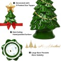 """11.5"""" Pre-Lit Ceramic Hollow Christmas Tree with LED Lights"""