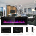 60 Inch Recessed Ultra Thin Mounted Wall Electric Fireplace