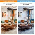 52 Inches Light Retro Ceiling Fan with Reversible Blades