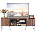 """60"""" TV Stand Media Center Storage Cabinet with Metal Leg"""