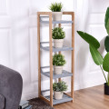 4-Tier Bamboo Multifunctional Storage Tower Stand Rack