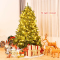 6 Feet Unlit Artificial Christmas Tree with 1250 Branch Tips