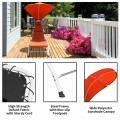 Patio Hanging Swing Hammock Chaise Lounger Chair with Canopy