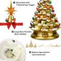 15 Inch Pre-Lit Hand-Painted Ceramic National Christmas Tree