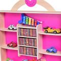 Pink Kids Wooden Toy Shop Market Shopping Pretend Play Set