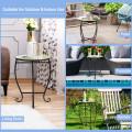 Outdoor Indoor Steel Accent Plant Stand Cobalt Table