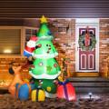 7 Feet Inflatable Christmas Tree Santa Decor with LED Lights