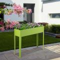 "40"" x 13"" Outdoor Elevated Garden Plant Flower Bed"