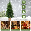 3 Feet Tabletop Battery Operated Christmas Tree with LED lights