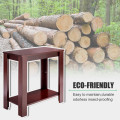 Espresso Wooden Sofa End Table Side Table
