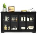 Sideboard Buffet Cupboard Storage Cabinet with Sliding Door