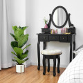 Vanity Makeup Table Set Bedroom Furniture with Padded Stool