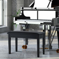 Solid Wood PU Leather Padded Piano Bench Keyboard Seat
