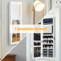 5 LEDs Jewelry Armoire Wall Mounted / Door Hanging Mirror