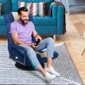 360-Degree Swivel Gaming Floor Chair with Foldable Adjustable Backrest