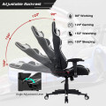 Reclining Swivel Massage Gaming Chair with Lumbar Support