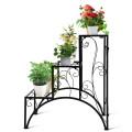 3-Tier Metal Plant Rack Garden Shelf in Stair Style